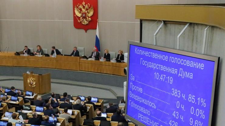 Rosyjska Duma Państwowa poparła zmianę konstytucji. Dobra wiadomość dla Putina