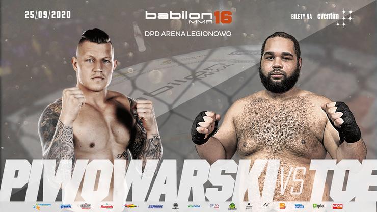 Babilon MMA 16: Michał Piwowarski zmierzy się z Filipem Toe w wadze ciężkiej