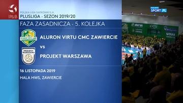 Aluron Virtu CMC Zawiercie – Projekt Warszawa 2:3. Skrót meczu