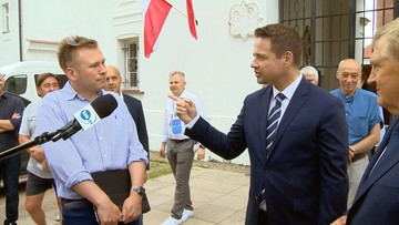 Mówił po angielsku do Trzaskowskiego. Zaskakująca reakcja prezydenta Warszawy