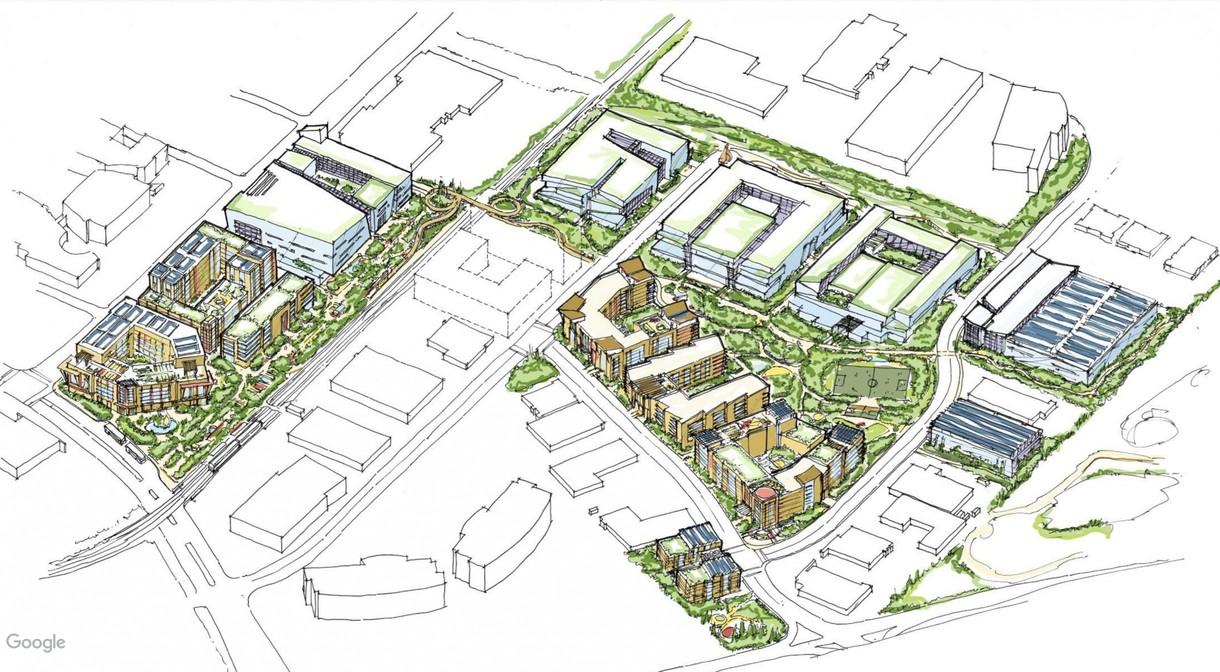 Middlefield Park - город для сотрудников. Google. США Qfsqv72ah92852gdcbqc5uuhuxw5ez3x