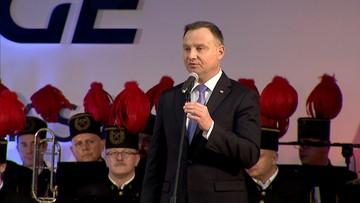 """""""Wydobycie węgla to służba dla Polski"""". Prezydent Duda odwiedził górników"""