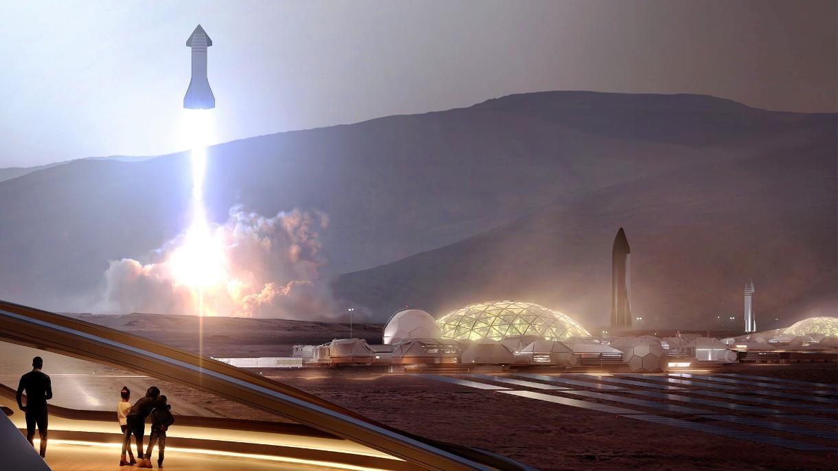 Elon Musk chce przenieść na Marsa milion ludzi do 2050 roku statkami Starship