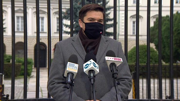 Konferencja prasowa Wojciecha Andrusiewicza, rzecznika MZ