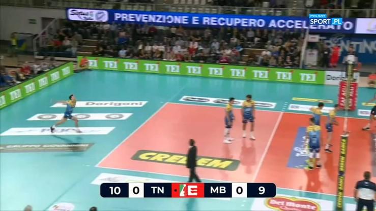 Itas Trentino - Vero Volley Monza 3:0. Skrót meczu