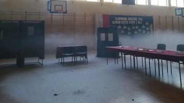 Pożar w lokalu wyborczym. Przerwane głosowanie