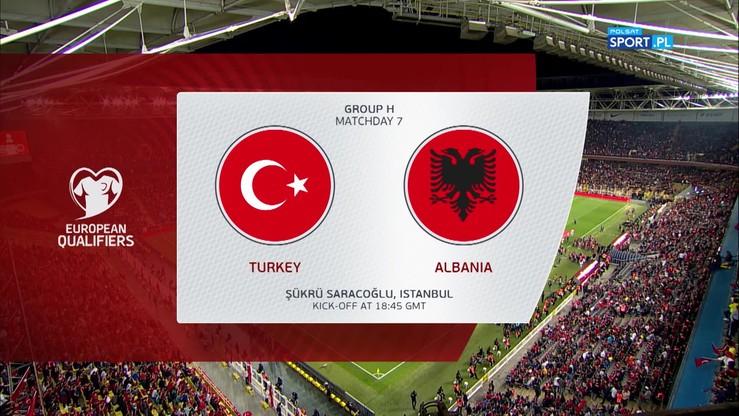 Turcja - Albania 1:0. Skrót meczu