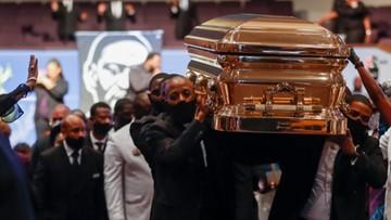 Pogrzeb George'a Floyda. Wśród żałobników także politycy i celebryci