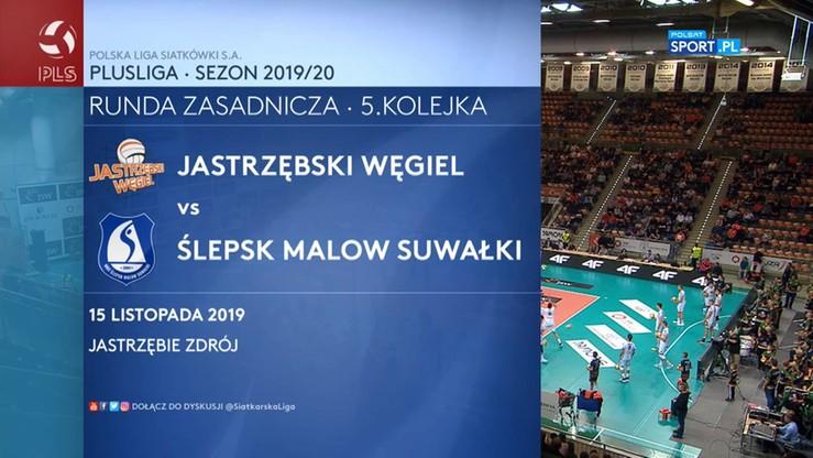 Jastrzębski Węgiel – MKS Ślepsk Malow Suwałki 3:0. Skrót meczu