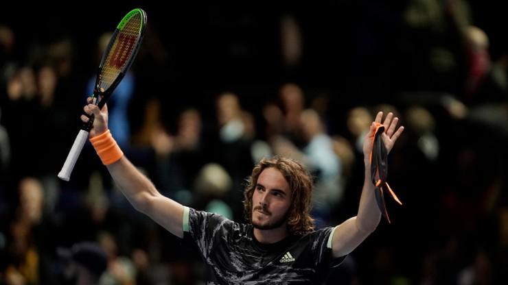 ATP Finals: Debiutant Tsitsipas w półfinale