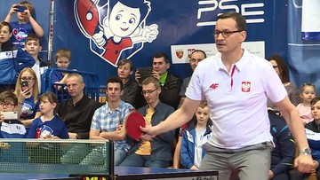 Ping-pong Morawieckiego. Premier rozegrał sparing