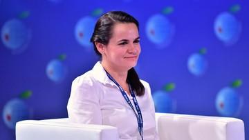 Cichanouska po spotkaniu z Budką. Dziękowała za wsparcie wszystkich partii