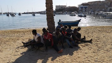 Z walizką i pudlem. Migranci przypłynęli przebrani za turystów