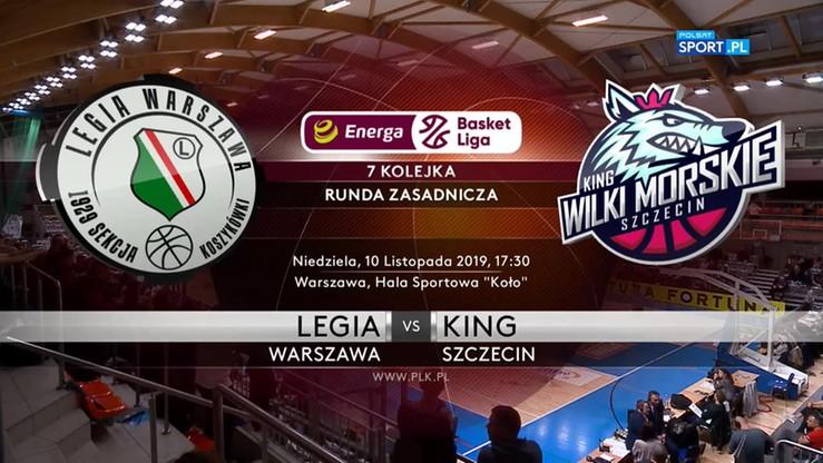 Legia Warszawa - King Szczecin 95:87. Skrót meczu