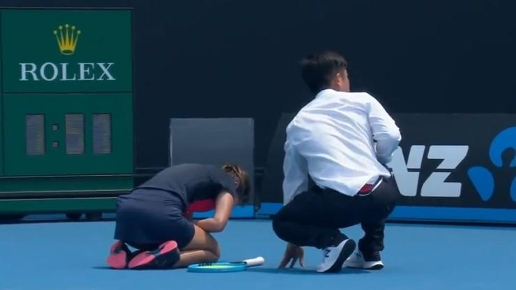 Koszmarne warunki podczas Australian Open! Tenisistka dostała ataku kaszlu i poddała mecz