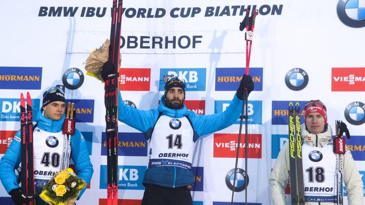 PŚ w biathlonie: Fourcade zwyciężył w sprincie w Oberhofie