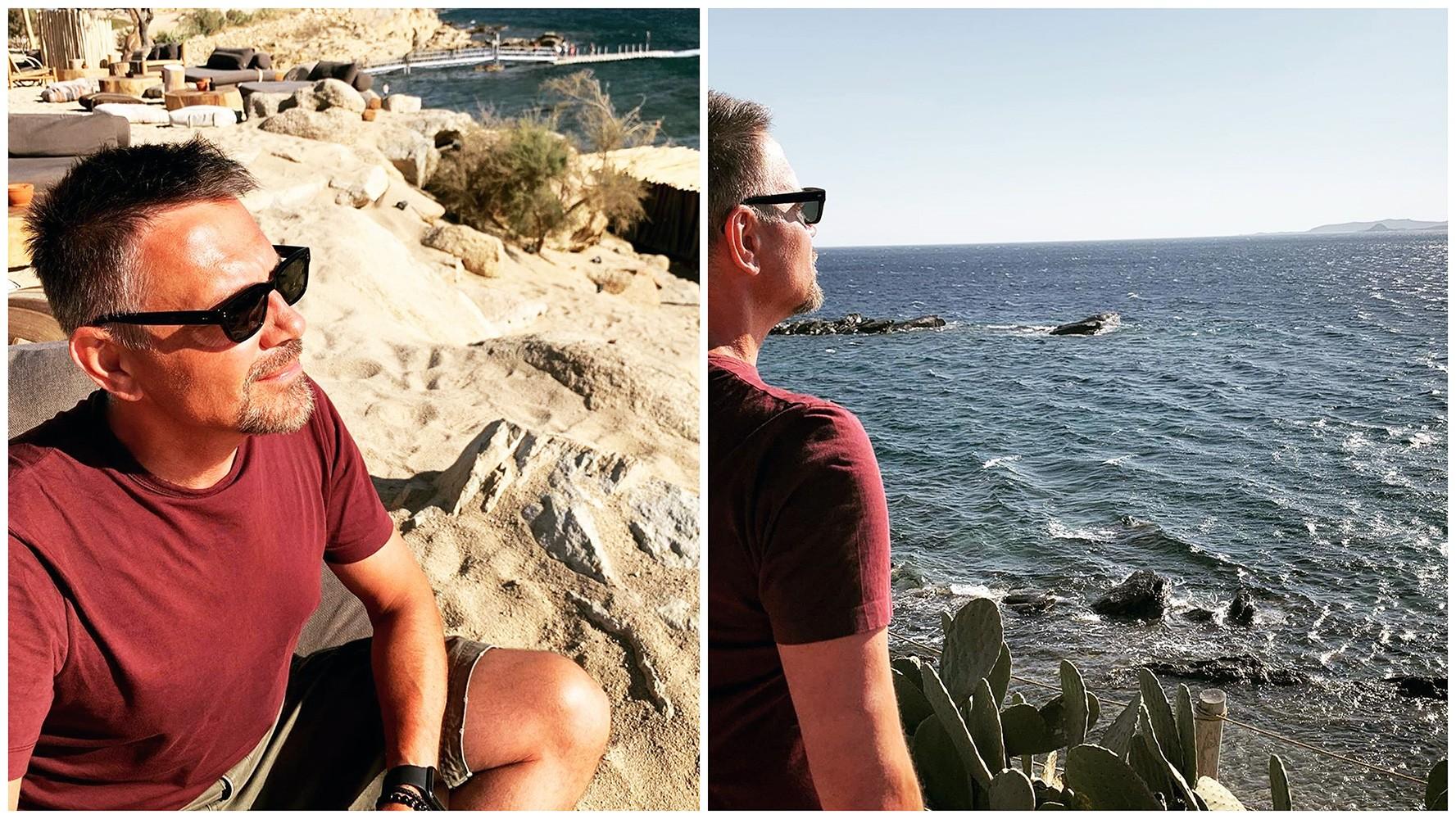 Krzysztof Ibisz zachwycony grecką wyspą. Są fotki i wideo!