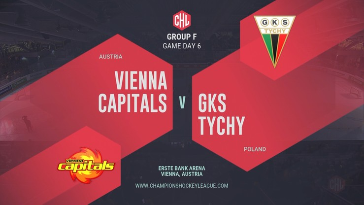 2019-10-15 Vienna Capitals – GKS Tychy 5:2. Skrót meczu