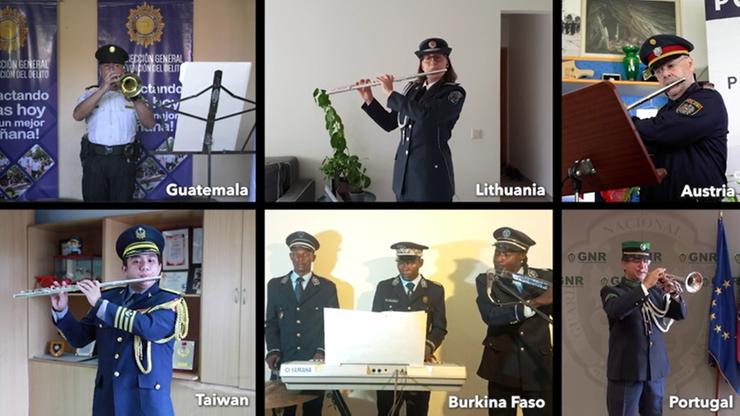 Policyjni muzycy z całego świata w hołdzie walczącym z pandemią. Jaki utwór zagrali?