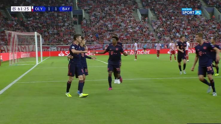 Drugi gol Lewandowskiego w meczu z Olympiakosem