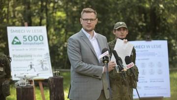Woś: zaostrzamy kary za śmiecenie w lesie