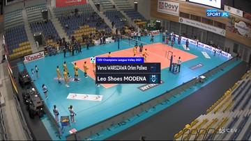 Verva Warszawa Orlen Paliwa – Leo Shoes Modena 0:3. Skrót meczu