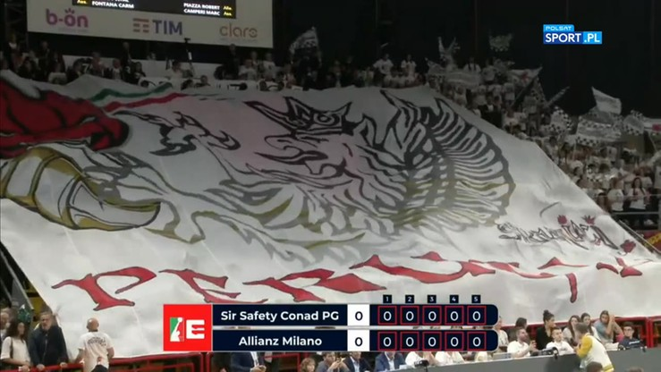 Sir Safety Conad Perugia - Power Volley Allianz Milano 0:3. Skrót meczu