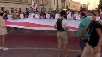 Wiec poparcia w Warszawie. Polacy solidarni z Białorusinami