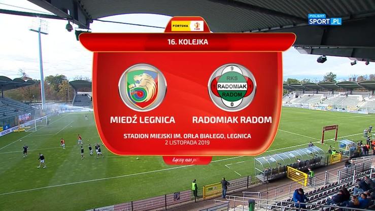 Miedź Legnica - Radomiak Radom 3:1. Skrót meczu