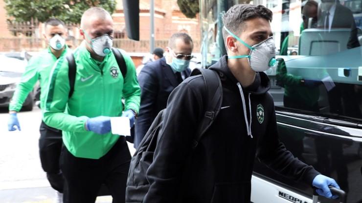 Obawa przed koronawirusem. Piłkarze Ludogorca w maskach na mecz z Interem (ZDJĘCIA)