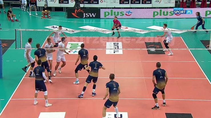 PlusLiga: Najlepsza akcja meczu w Jastrzębiu-Zdroju
