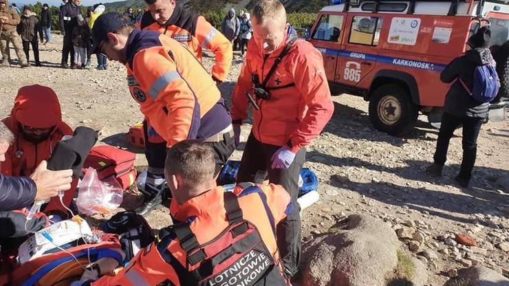 """Akcja ratunkowa w Karkonoszach. """"Zrobienie kilku zdjęć było ważniejsze niż ratowanie życia"""""""