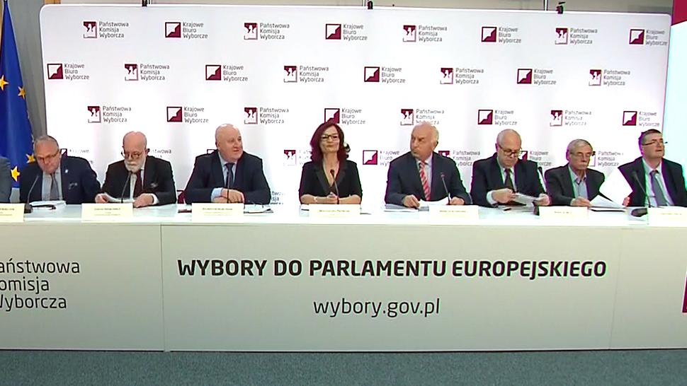 Oficjalne wyniki wyborów do europarlamentu