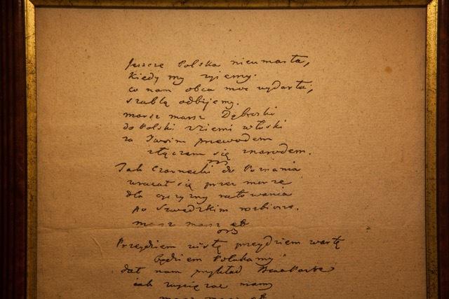 Faksymile rękopisu Mazurka Dąbrowskiego