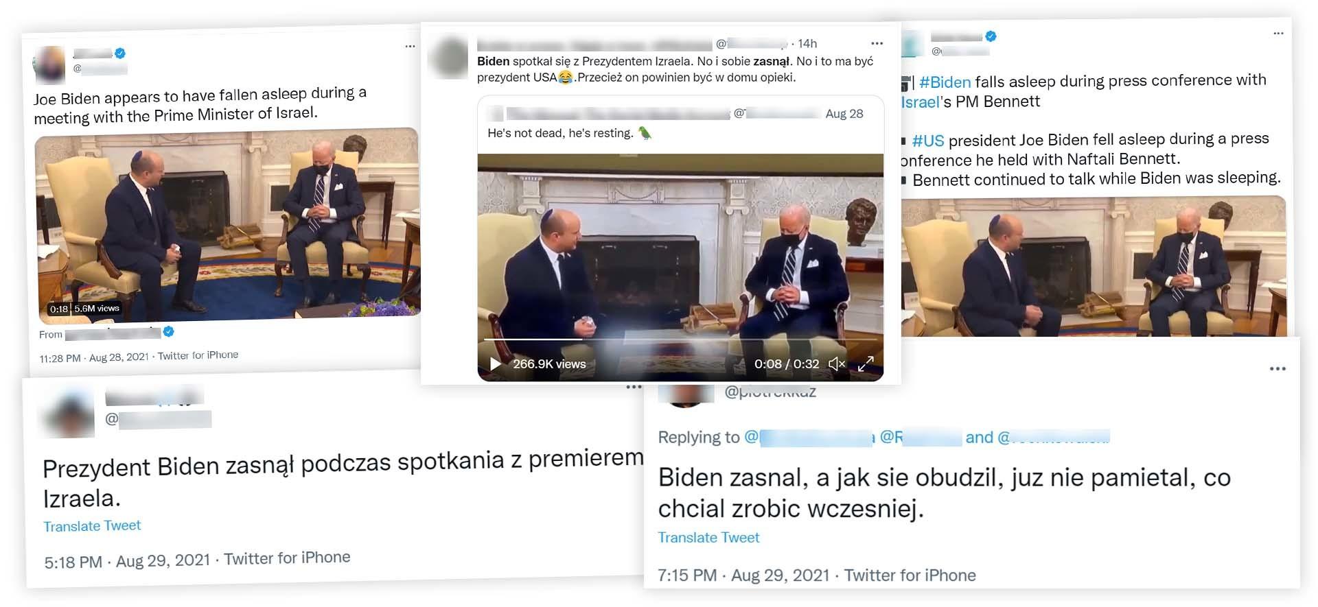 Wideo z prezydentem USA, który rzekomo miał zasnąć podczas rozmowy, szybko stało się popularne w sieci