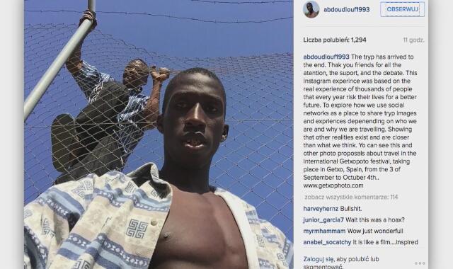 Senegalczyk Abdou. Fałszywe konto na Instagramie