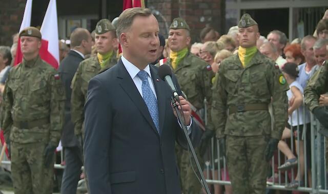 Prezydent Andrzej Duda: Wojska Obrony Terytorialnej są doskonale przygotowane  do obrony ojczyzny