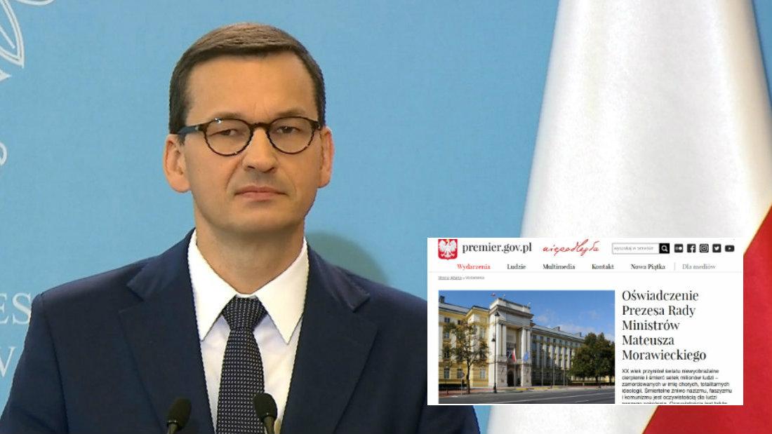 """29.12.2019   Morawiecki reaguje na słowa Putina. """"Nie ma zgody na zamianę katów z ofiarami"""""""