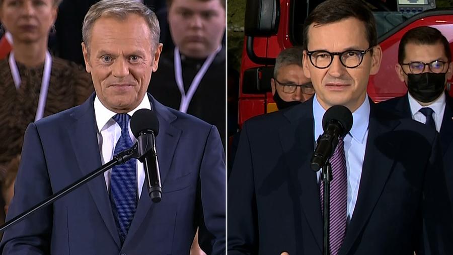 Tusk zaproponował Kaczyńskiemu zmianę konstytucji. Odpowiedział mu Morawiecki: możemy podjąć dyskusję