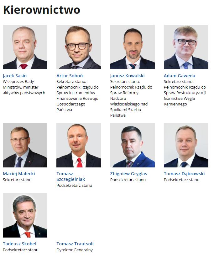 Kierownictwo Ministerstwa Aktywów Państwowych