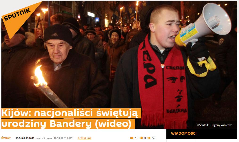 Tytuł i zdjęcie do jednego z tekstów o manifestacji w Kijowie