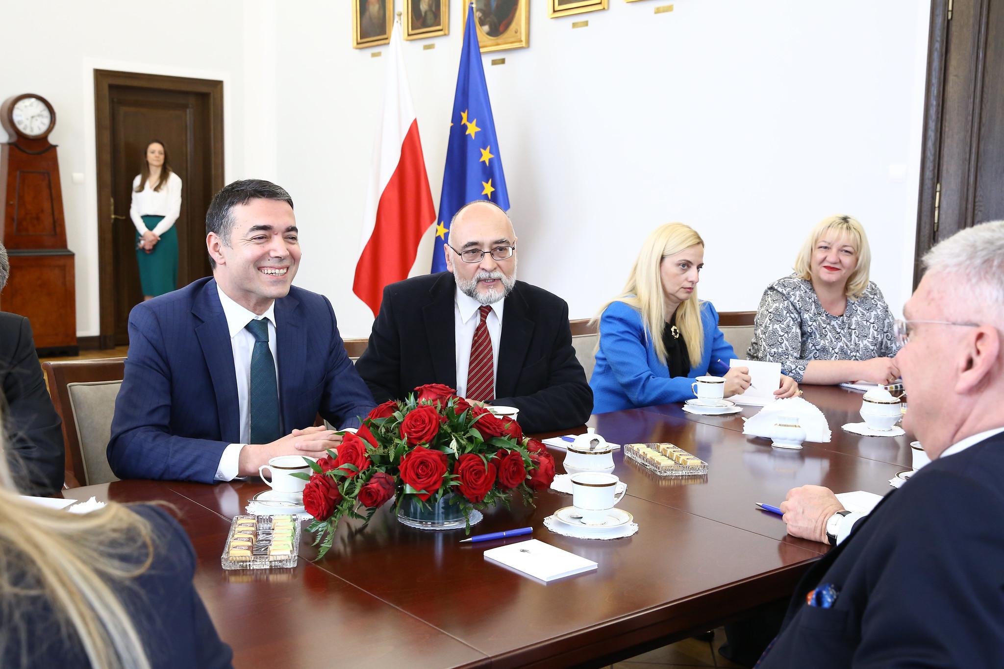 Wizyta ministra spraw zagranicznych Republiki Macedonii Północnej Nikoli Dimitrova, kwiecień 2019