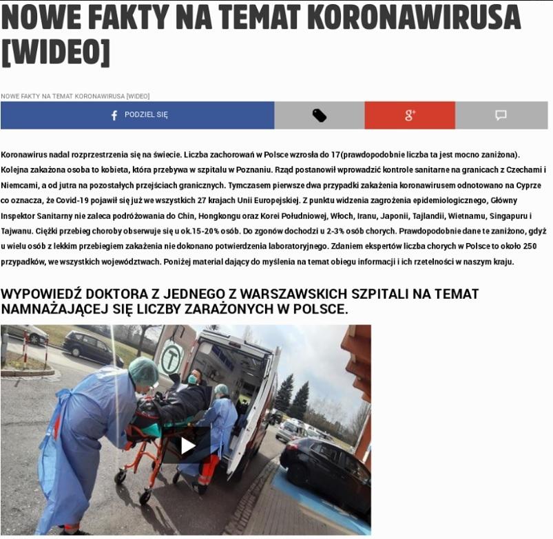 Fake news na fałszywej stronie Fakt24.pl