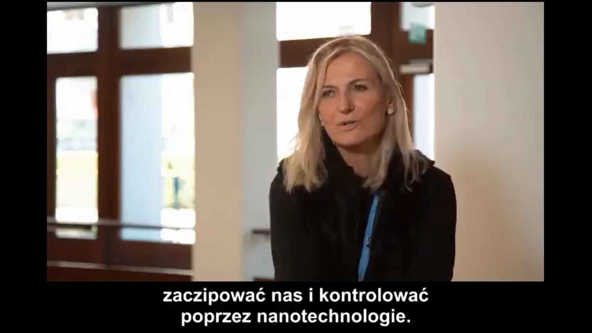 Kadr z filmu z udziałem dr Astrid Stuckelberger