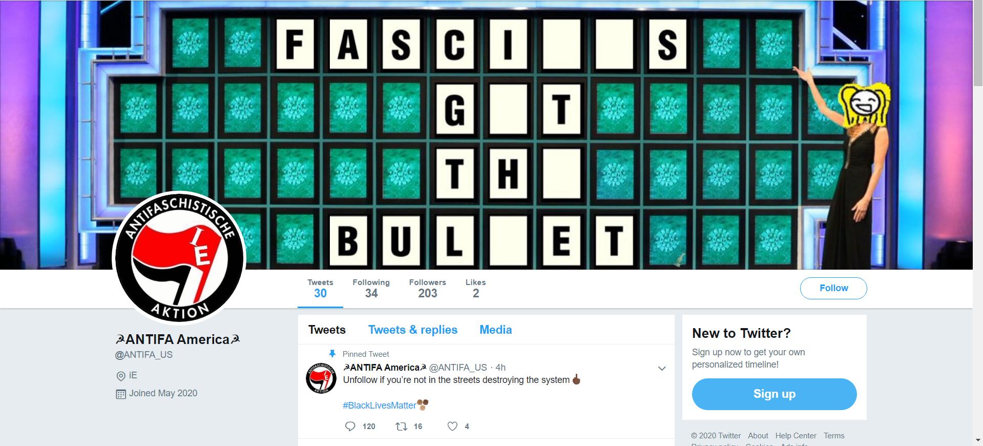 Fałszywy profil Antify