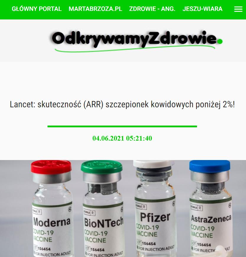 fragment artykułu opublikowanego w serwisie odkrywamyzdrowie.pl
