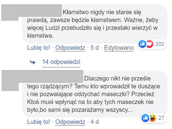 Komentarze internautów