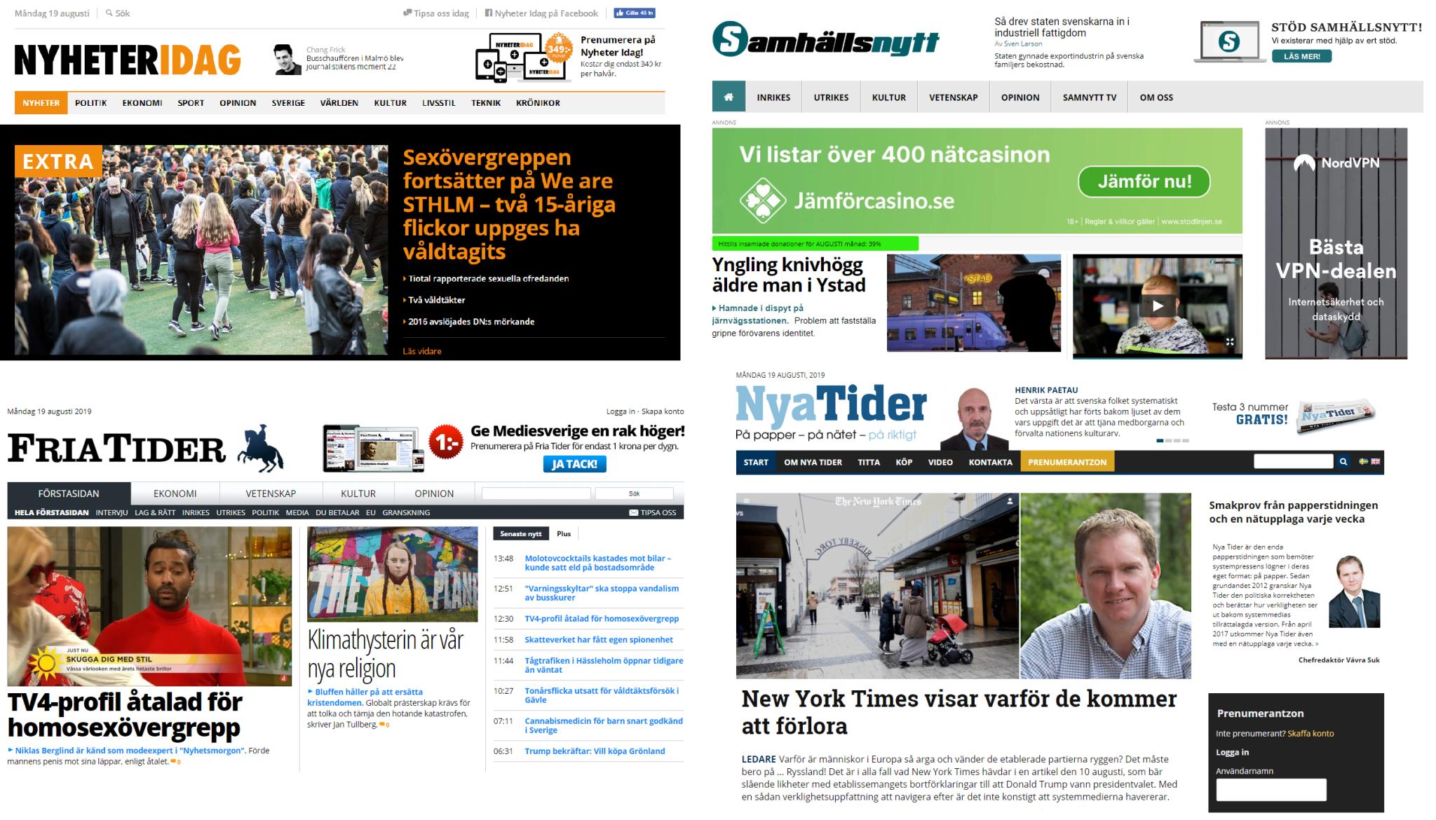 Przekaz prawicowych portali pomaga Szwedzkim Demokratom zdobywać popularność