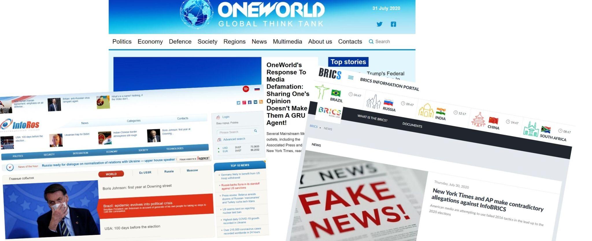 Rosyjskie portale posądzane o dezinformację wymierzoną w USA