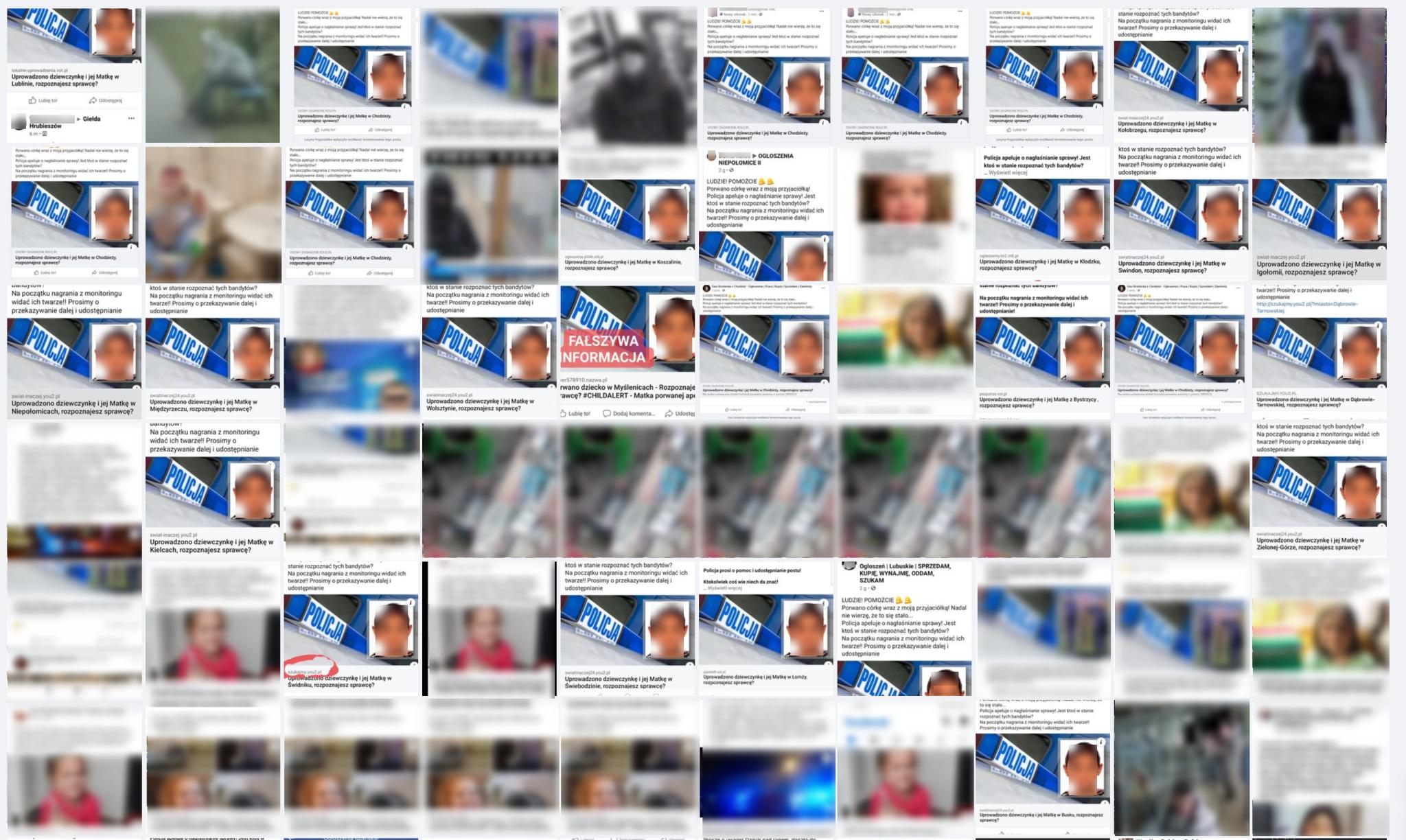 Kilkadziesiąt facebookowych wpisów o porwaniu jednej dziewczynki